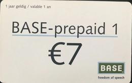 BELGIQUE - Prepaid  -  Base  - 7 E. - GSM-Kaarten, Herlaadbaar & Voorafbetaald