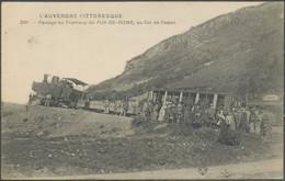 CPA - Passage Du Tramway Du PUY-DE-DOME Au Col De Cessat TAMPONS MILITAIRES 13è Corps D'Armée H.P. N°32 ROYAT 24 04 1915 - Other Municipalities