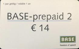 BELGIQUE - Prepaid  -  Base  - 14 E. - GSM-Kaarten, Herlaadbaar & Voorafbetaald