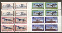 Allemagne Fédérale 1979 - Avions - Série Complète MNH BDF En Blocs De 4 - Dornier - Heinkel - Junkers - Focke Wulf - Lots & Kiloware (mixtures) - Max. 999 Stamps