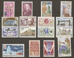 France 1968 - Petit Lot De 16 MNH - Larousse - Royan - Rambouillet - Armistice - Le Sage - Expéditions Polaires - JO Mex - Lots & Kiloware (mixtures) - Max. 999 Stamps