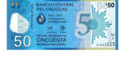 Uruguay P.100 50 Pesos 2017  Unc - Uruguay