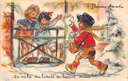 Illustrateur: Germaine  Bouret      En Voila Des Lettres De Bonne Année    (voir Scan) - Bouret, Germaine