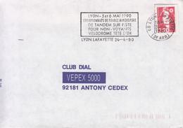France-Lyon Lafayette-24/4/1990-Championnat De France Handisport De Tandem Sur Piste Pour Non Voyants/Vélodrome Tête D'O - Wielrennen