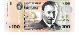 Uruguay P.88b 100 Pesos 2011  Unc - Uruguay