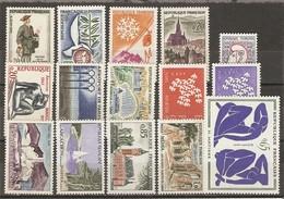 France - 1961 - Petit Lot De 15 MNH - Europa - Maillol -  Arcachon - Mont Doré - Orly - Matisse - Médéa - Bagnoles - Lots & Kiloware (mixtures) - Max. 999 Stamps