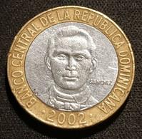 REPUBLIQUE DOMINICAINE - 5 PESOS 2002 - Francisco Del Rosario Sánchez - KM 89 - Dominicana
