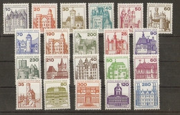 Allemagne Berlin 1977/82 - Châteaux - Série Complète  MNH - Valeur Catalogue 45.20 € - Lots & Kiloware (mixtures) - Max. 999 Stamps
