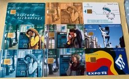 Lot1 - Belgie 1997/1998 - Mooie Chipkaarten - Verzamelingen