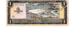 El Salvador P.133 1 Colon 1982  Xf - El Salvador