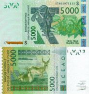 WEST AFRICAN STATES, GUINEA (GUINEA)-BISSAU, 5000, 2017, Code S, P917Sg, UNC - Guinea-Bissau