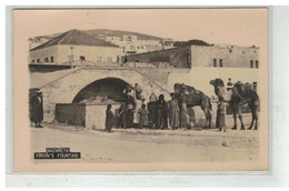 ISRAEL PALESTINE LIBAN LEBANON  #17909 NAZARETH VIRGIN S FOUTAIN CARTE PHOTO - Israel