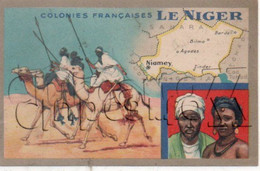Niger : Carte Géographique Avec Illustration Ed Lion Noir En 1945 (animé) PF. - Niger