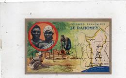 Dahomey : Carte Géographique Avec Illustration Ed Lion Noir En 1945 (animé) PF. - Dahomey