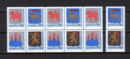 1982, Armoiries, Tarif Réduit, 4x 1171 / 1174**, (fac 16,80  Sek), Cote 24 €, Prix 8 € - Unused Stamps