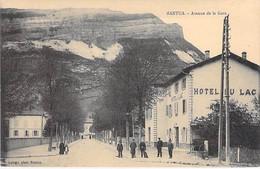 HOTELS & RESTAURANTS - 01 - NANTUA : Avenue De La Gare - HOTEL Du LAC En 1er Plan - CPA  - Ain - Hotels & Restaurants