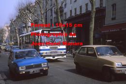 Reproduction Photographie Ancienne D'un Bus CBM Ligne L3 St-Pancrace Près D'une Peugeot 104 Et Renault 5 à Nice 1982 - Reproductions