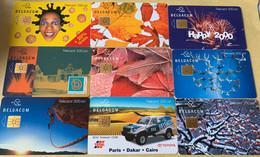 Lot3 - Belgie 2000/2001 - Mooie Chipkaarten - Verzamelingen