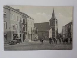 1937 CP Animée Gilly ?? Charleroi Automobile Ancienne Café Pub Bière Labor Eglise - Charleroi
