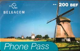 BELGIQUE - Prepaid  -  BELGACOM - Phone Pass  -  200 BEF - GSM-Kaarten, Herlaadbaar & Voorafbetaald