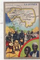 Guinée : Carte Géographique Avec Illustration Edition Lion Noir En 1945 (animé) PF. - Guinea