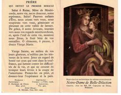 Mons. Notre-Dame De Belle-Dilection . Capucin De Mons. - Devotieprenten