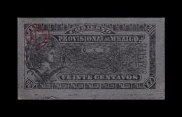 México Gobierno Provisional 20 Centavos 1914 Pick S699 SC- AUNC - Mexico