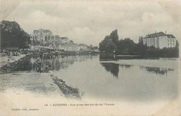 CPA 89 Yonne Auxerre Vue Prise Des Bords De L'Yonne Pêcheur - Auxerre