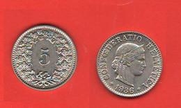 Svizzera 5 Rappen1936 Cents Suisse Switzerland Nickel Coin Excellent Quality - Switzerland