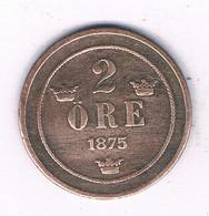 2 ORE 1875 ZWEDEN /2989/ - Suecia