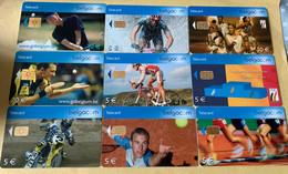 Lot5 - Belgie 2004 Tot 2014 - Mooie Chipkaarten - Verzamelingen