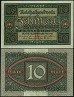 ♛ GERMANY - 10 Mark 06.02.1920 {Reichsbank} UNC P.67 A - 10 Mark