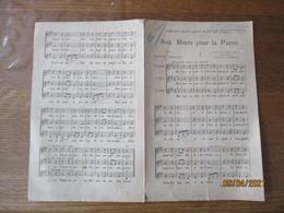 AUX MORTS POUR LA PATRIE  POESIE DE MAURICE BOUCHOR CHANT D'UN CANTIQUE BRETON HARMONISE PAR JULIEN TIERSOT - Scores & Partitions