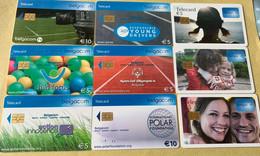 Lot6 - Belgie  2014 - Mooie Chipkaarten - Verzamelingen