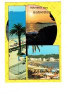 Cpm - Souvenir Des SABLETTES - Jeu MANÈGE Voiture Style Karting Parasol Publicité AMOS - 1972 - Unclassified