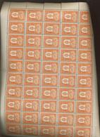 756-759 Feuille Entière De 50 Ex Juste Pliées Une Fois.  ++. Super Frais.  Zeer Fris. Cote 250-euros - Volledige Vellen