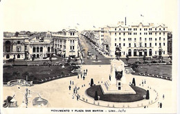 PERU Pérou - LIMA : Monumento Y Plaza San Martin - CPSM Photo Format CPA - AMERIQUE DU SUD South America Sudamerica - Peru