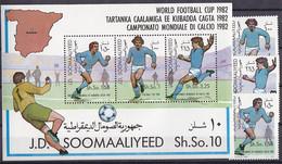Soccer World Cup 1982 - SOMALIA - S/S+Set MNH - 1982 – Espagne