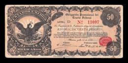 México Revolutionary 50 Pesos 1914 Pick S716 BC F - Mexico
