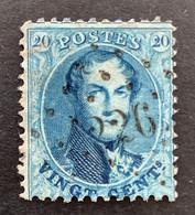 Medaillon 15A - 20c Gestempeld LP226 LOUVAIN - 1863-1864 Medaillen (13/16)