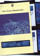 1999 Montserrat  WWF Grosse Hammerhai/Hammerhead Shark Komplettes Kapitel 4 **, 4 FDC, 4 MK + 3 Blätter Beschreibung - Nuevos