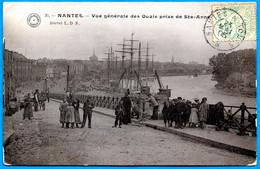 En L'état CPA 44 NANTES : Vue Générale Des Quais Prise De Ste Sainte-Anne ° Grand Bazar De Nantes - Nantes