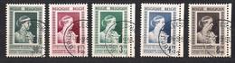 Belgie Belgique 1951 Yvertn° 863-867 (°) Oblitéré Cancelled Cote 56 € Reine Elisabeth - Used Stamps