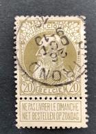 Leopold II Grove Baard 75 - 20c Gestempeld ST TROND 26 OCT 10 - 1905 Barba Grossa