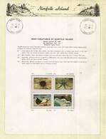 Poissons Et Créatures Des Récifs De L'île Norfolk,émission Année 1986,avec Halley's Comet,sur 2 Feuilles Présentation - Norfolk Island