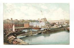 Folkestone - Inner Harbour, Railway Swing Bridge, Train Carriage - 1906 Used Postcard - Folkestone