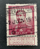 Pellens 122 - 5r Gestempeld SPOORWEGSTEMPEL LONDERZEEL OUEST 2 JUIN 1913 - 1912 Pellens