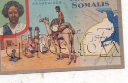 République De Djibouti : Carte Géographique Avec Illustration Edition Lion Noir En 1945 (animé) PF. - Djibouti