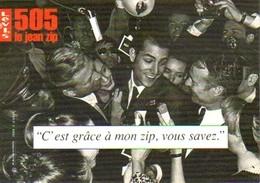 """Carte Postale """"Cart'Com"""" (1998) - Levi's 505 Le Jean Zip (vêtements, Mode) - Fashion"""