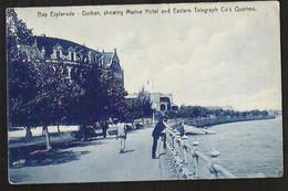 DURBAN Bay Esplanade With Marine Hotel Sent 1909 - South Africa